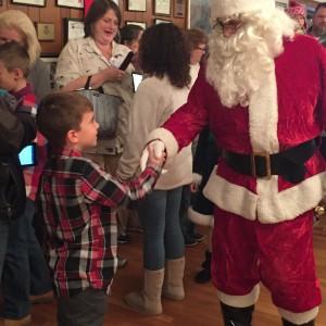 Santa greets Karter Olewiler