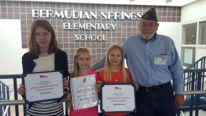 Loyalty Day Coloring Contest winners from Bermudian Springs
