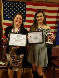Paige Erdman & Melissa Pero--1st place winner for VOD and Teacher of the Year-Both from Bermudian Springs High School