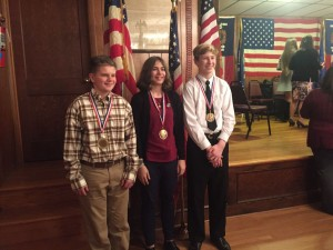 Patriot's Pen Finalists received awards at the Annual Banquet Saturday, Febrary 24th @ East Berlin